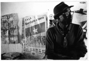 """Rundu carpenter resident in Namibia since 1976 remembers his country of birth, Angola and his support for Holden Roberto's FLNA - which led to his eventual exile in Namibia."""" Photo by John Liebenberg, 1987. NAN 12280."""