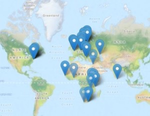 Time-Map of Namibians studying abroad while in exile (non-exaustive). Click to link out.