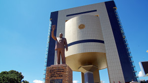 New Independence Museum with Stature of Sam Nujoma in Civil Attire. Architects: Mansudae, DPRK