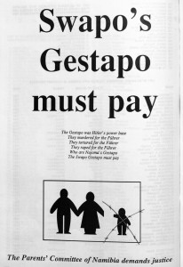 Poster produced by Committee of Parents (in Basson & Motinga 1989: 166).