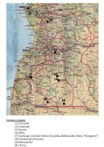 Camps in Angola. From C.A. Williams 2009: 282