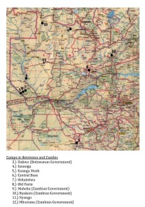 Camps in Zambia. from C.A. Williams 2009: 281