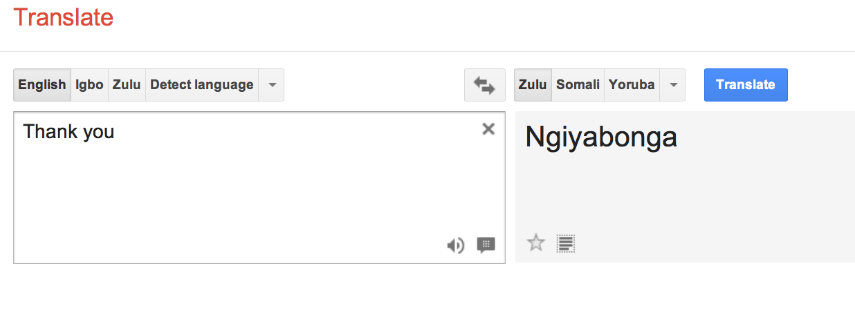 English To Italian Translator Google: Shifting Representations Of Zulu Identities, From Analog